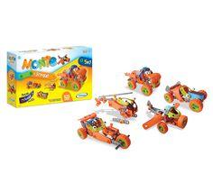 0663.2 - Monte e Brinque 123 peças 5 em 1   Peças flexíveis para montar com formatos e cores diferentes. Basta usar a imaginação para começar a diversão.   Faixa Etária: +5 anos   Medidas: 40 x 8,5 x 25 cm   Jogos e Brinquedos   Xalingo Brinquedos   Crianças