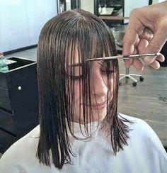 Forced Haircut, Cutting Hair, Hair Falling Out, Short Bangs, Hair And Beauty Salon, Haircuts With Bangs, Gabriel, Cape, Hair Cuts