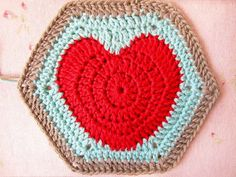 Happy Valentines...and a Hearty Hexagon Pattern ♥♥♥♥♥Happy Valentines Day for tomorrow!♥♥♥♥♥ I have spent the weekend working on my Hearty Hexagon Pattern, hoping to have ... #Crochet