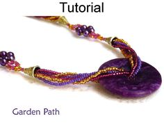 Beading Tutorial Pattern Necklace  by SimpleBeadPatterns on Etsy