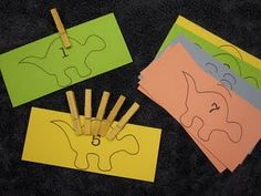 dinosaur counting and number identification