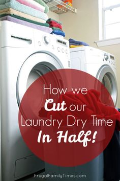 Cut the amount of time and money you spend running your dryer! Dryers use a lot of power - and that power isn't free. But cutting the time it takes to do laundry we saved money and we saved time. These tips are pretty simple - and can even make your home safer. Cleaning Maid, Household Cleaning Tips, Diy Cleaning Products, Cleaning Hacks, Cleaning Schedules, Cleaning Recipes, Cleaning Supplies, Laundry Drying, Doing Laundry
