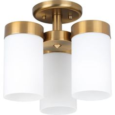 Progress Lighting Elevate 11.75-in W Brushed Bronze Flush Mount Light