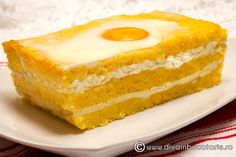 tortul-ciobanului--mamaliga-cu-branza-la-cuptor Romanian Recipes, Romanian Food, 30 Minute Meals, Polenta, Casserole Recipes, Vanilla Cake, Vegetarian Recipes, Cheesecake, Oven