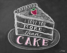 I+Love+You+More+Than+Cake++Unique+Card++Cake+by+LilyandVal+on+Etsy,+$3.50