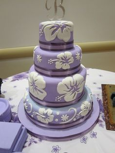 hawaiian wedding cakes on pinterest purple wedding cakes hawaiian wedding cakes and purple. Black Bedroom Furniture Sets. Home Design Ideas