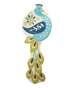 Loving this Peacock Spoon Rest on #zulily! #zulilyfinds