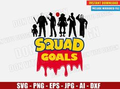 Halloween SquadGoals Horror Toy Story Logo (SVG dxf png) Cut Files - Trend Design Home App 2019 Poster Design Software, Film Poster Design, Halloween Wiki, Halloween Horror, Halloween Party, Design Home App, Vector Clipart, Michael Myers, Squad Goals