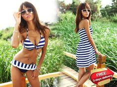 Is time to show your summer fashion! LivingSocial Shop: Set of 3 Pcs Summer Time Beach Wear Bikini Summer Time, Bikinis, Swimwear, Beachwear, How To Wear, Shopping, Nice, Fashion, Bathing Suits