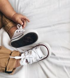 Toddler Converse ~ Nothing cuter than itty bitty feet in some Chuck Taylor's 😍 . Grab your little babe a pair today! Also keep an eye out we have some new season Converse coming real soon 🙌🏼 . Baby Boy Fashion, Toddler Fashion, Fashion Kids, Fashion 2018, Fashion Women, Fashion Outfits, Little Babies, Cute Babies, Baby Boy Outfits