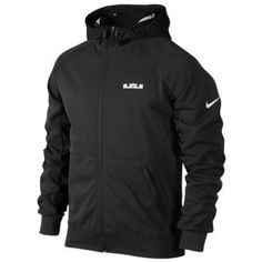 Nike Lebron Diamond F/Z Hoodie - Men's - Basketball - Clothing - Black Heather/Black/White/White