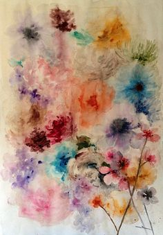 Lourdes Sanchez, untitled flowers 2 2013, watercolor