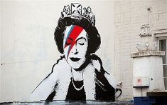 Banksy paints the Queen as Ziggy Stardust