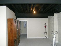 basement ceilings painted basement ceilings and unfinished basement