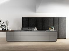 Kitchen with island without handles GENIUS LOCI | Kitchen with island - VALCUCINE