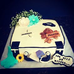 Suitcase themed Going Away Cake