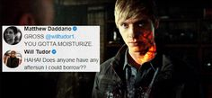 Moisturize! ... (their comments are just so funny here) ... (season 2, shadowhunters) shadowhunters, alexander 'alec' lightwood, jonathan morgenstern, the mortal instruments, matthew daddario, will tudor