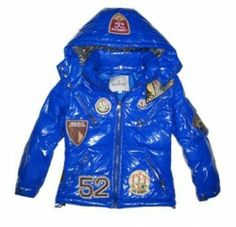 32166800101f Hottest Moncler Children Multiple Logo Down Parkas Blue Hottest Moncler  Children Multiple Logo Down Parkas Blue