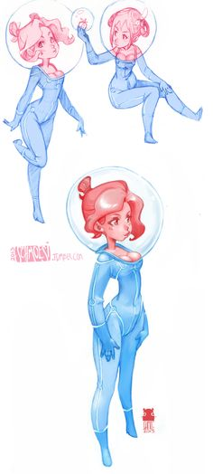 Character Design Course Description : Sketches of ladies different shapes and heights lady