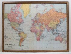 LARGE Magnet Board - Classic World Map Design