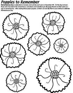 Remembrance And Veterans Day Coloring Pages A Wonderful Way To - Poppies to remember coloring page