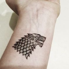 game of thrones tattoo - Stark Symbol (Winter is coming at the bottom)