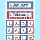 This sweet calendar set is great for a nautical theme classroom. Included in the set is as follows:  All 12 months This month is header Last month ...