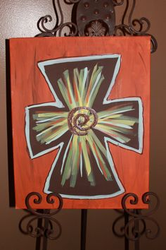 Cross Painting by anchorofthesoul on Etsy