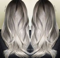 Pearl platinum blonde silver hair color