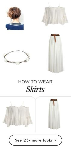 """maxi skirt"" by fallinginreverserocks on Polyvore featuring Sans Souci and Lipsy"