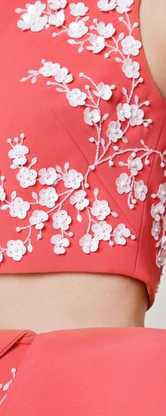 sequined & beaded embroidery detail -- Azzi & Osta Spring-Summer 2015 - Couture
