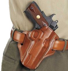 Purchase a Galco Belt Holster online. The Galco belt holster is a 5 inch holster made for Colt Kimber, Para, and Springfield 1911 handguns. 1911 Leather Holster, 1911 Holster, Gun Holster, Saddle Leather, Colt 1911, Concealed Carry Holsters, Leather Working, Firearms, Shotguns