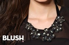 Necklace of black stones #Black #Stone #Fashion #trendy #look #Necklace #FW2013