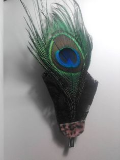 #HandCrafted #Peacock #Pin / #Barrette
