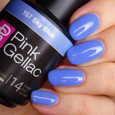 Pink Gellac 157 Sky Blue Gel-Nagellack via pinkgellac.de