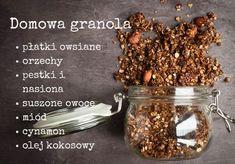 5 fit śniadań z płatków owsianych Granola, Healthy Recipes, Meat, Breakfast, Fitness, Food, Bullet Journal, Morning Coffee, Essen