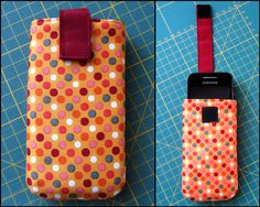 fröhlichesdahinwerken: DIY Handyhülle - Another! Diy Case, Diy Phone Case, Phone Cases, Diy Projects For Kids, Diy For Kids, Sewing Projects, Cell Phone Pouch, Sewing Kit, Birthday Diy