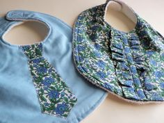 Twins Baby Bibs Set for Boy and Girl. $19.50, via Etsy.