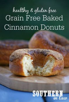 Paleo Baked Cinnamon Donuts Recipe | low fat, gluten free, grain free ...