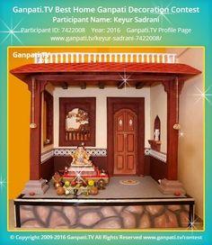 Keyur Sadrani Home Ganpati Picture View more pictures and videos of Ganpati Decoration at www. Diwali Decorations, Festival Decorations, Diy Wedding Decorations, Ganpati Decoration Theme, Ganapati Decoration, Village House Design, Village Houses, Ganpati Picture, Ganesh Chaturthi Decoration