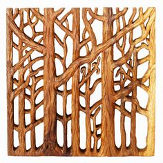 Show off your love of nature by hanging this tree life wall art in any room, featuring three unique perspectives to complement your decor. Hand-carved into Monkey Pod wood, this eco-friendly wall art showcases a Livos Oak oil finish for a natural look.