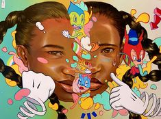 Kayla Mahaffey (@kaylamay_art) • Instagram photos and videos Aerosol Paint, Broken Doll, Black Artists, Pop Surrealism, Colorful Paintings, Deconstruction, Painting On Wood, Art Inspo, Cool Art
