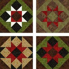 Free Quilt Block Patterns, M through S: Sawtooth Quilt Block Pattern