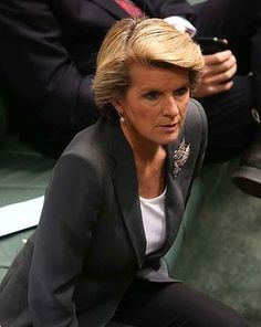 Julie Bishop - always looks immaculate. Does a nice line in brooches.