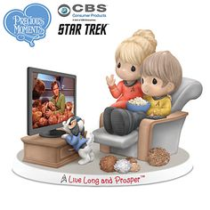 Precious Moments Live Long And Prosper Figurine - This is my brother and I in the 1960's!