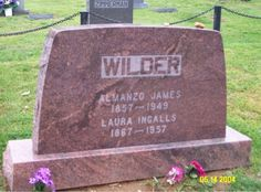 Laura Ingalls and Almonzo Wilder. Buried at Mansfield Cemetery, Wright Co. Thought they were buried in Missouri. Cemetery Monuments, Cemetery Headstones, Old Cemeteries, Graveyards, Famous Tombstones, Ingalls Family, Concord, Famous Graves, Laura Ingalls Wilder