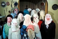 During the 12 days of Christmas in Newfoundland, the men and women of small fishing outposts throw pillow cases over their heads, disguise their bodies behind scraps of old clothing and go from house to house playing music, singing songs and drinking your rum. The mummer need only reveal themselves to the host if their identity is correctly guessed.