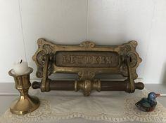 Vintage Heavy Brass Letterbox and Door Knocker by BarkersBarn