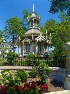 Belvedere Gazebo at the Alexander Mitchell Mansion in Kilbourn town, Milwaukee, WI. Owned by the Wisconsin Club