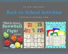 20 Fun and Easy Back-to-School Activities